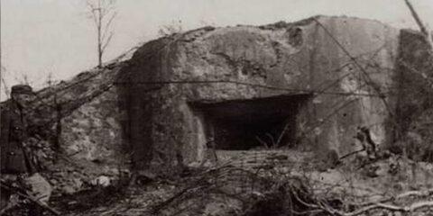Πολυβολείο οχυρού μετά το τέλος των μαχών